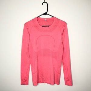 Lululemon Hot Pink Long Sleeve Switfly Top 6